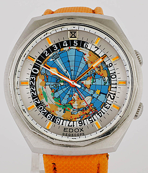 Edox Geoscope year 1975 Gents Watches, Vintage | Meertz World of Time