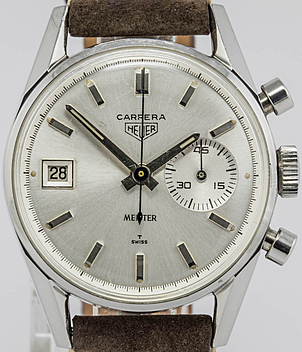 Heuer Carrera Ref. 3147S Jahr 1965 Herrenuhren, Vintage | Meertz World of Time