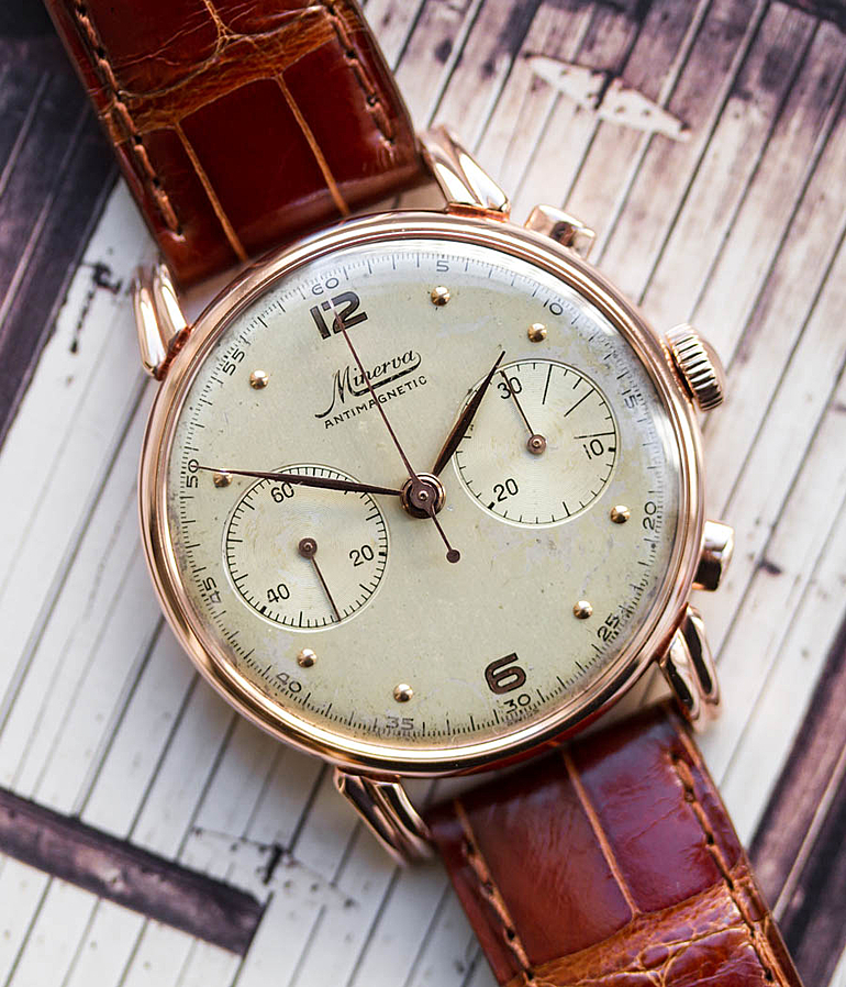Minerva year 1945 Gents Watches, Vintage | Meertz World of Time