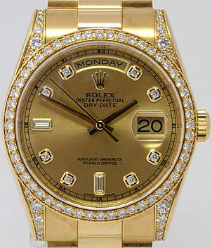 Rolex Day Date Ref. 118388 year 2013 Gents Watches, Ladies Watches | Meertz World of Time