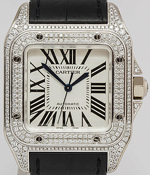 Cartier Santos 100 Ref. 2881 Jahr 2007 Herrenuhren, Damenuhren | Meertz World of Time
