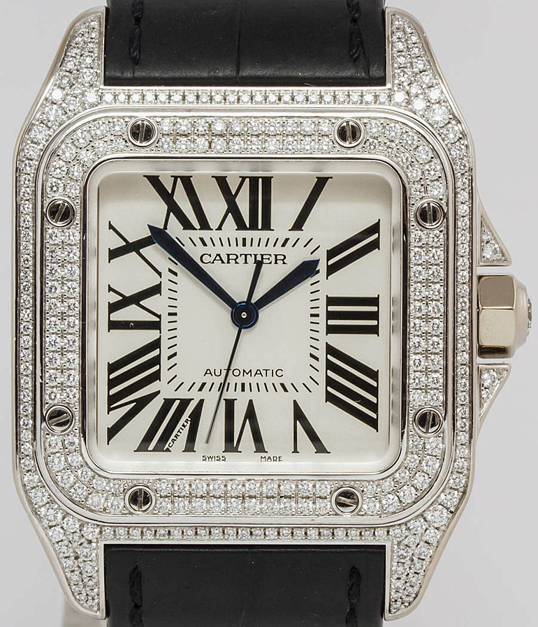 Cartier Santos 100 RefId 2881 year 2007 Gents Watches, Ladies Watches | Meertz World of Time
