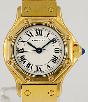 Cartier Santos Jahr 1987 Damenuhren | Meertz World of Time