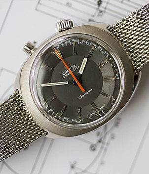 Omega Chronostop Ref. 145.010 year 1972 Gents Watches, Vintage | Meertz World of Time