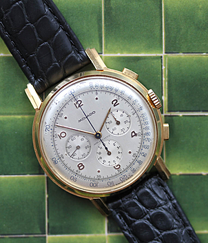 Movado chronograph year ca. 1945 Gents Watches, Vintage, Ladies Watches | Meertz World of Time