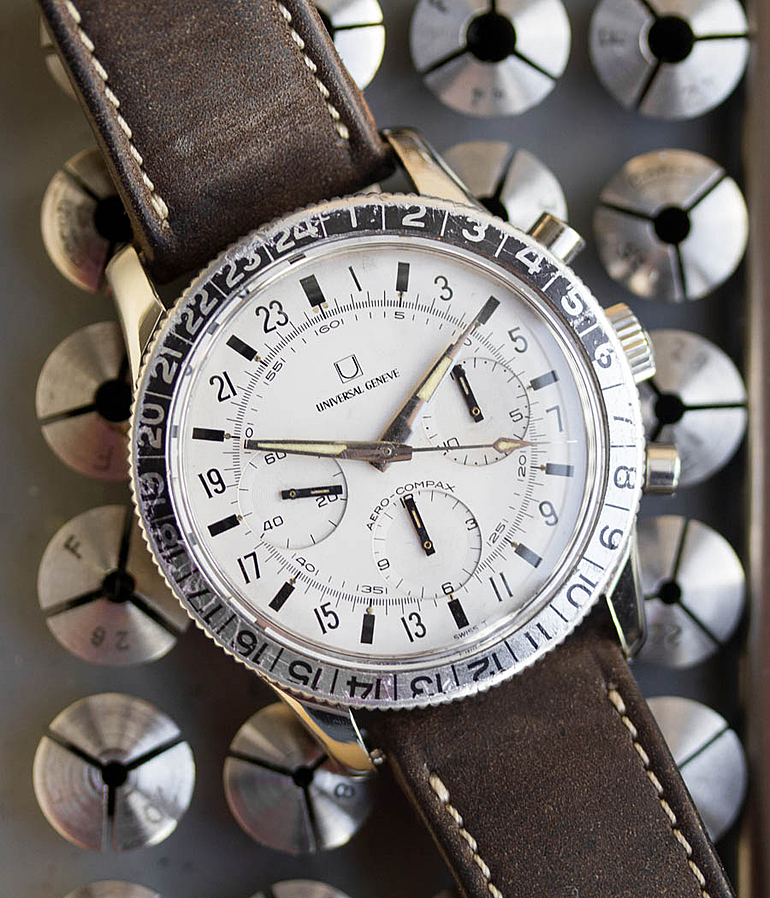 Universal Genève Aero-Compax RefId 890100/01 year 1965 Gents Watches, Vintage | Meertz World of Time