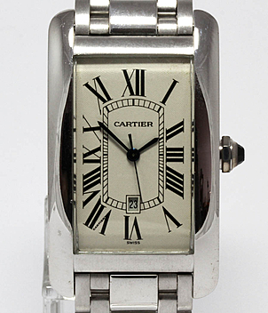 Cartier Tank Américaine Ref. 1741 Jahr 1998 Herrenuhren | Meertz World of Time