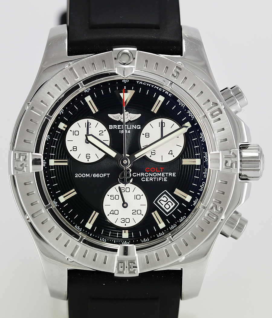 how to change the time on a breitling watch
