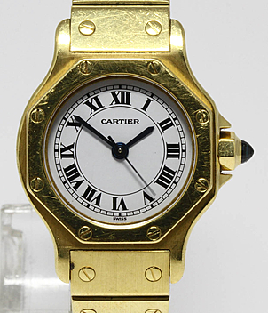 Cartier Santos Jahr 1990 Damenuhren | Meertz World of Time